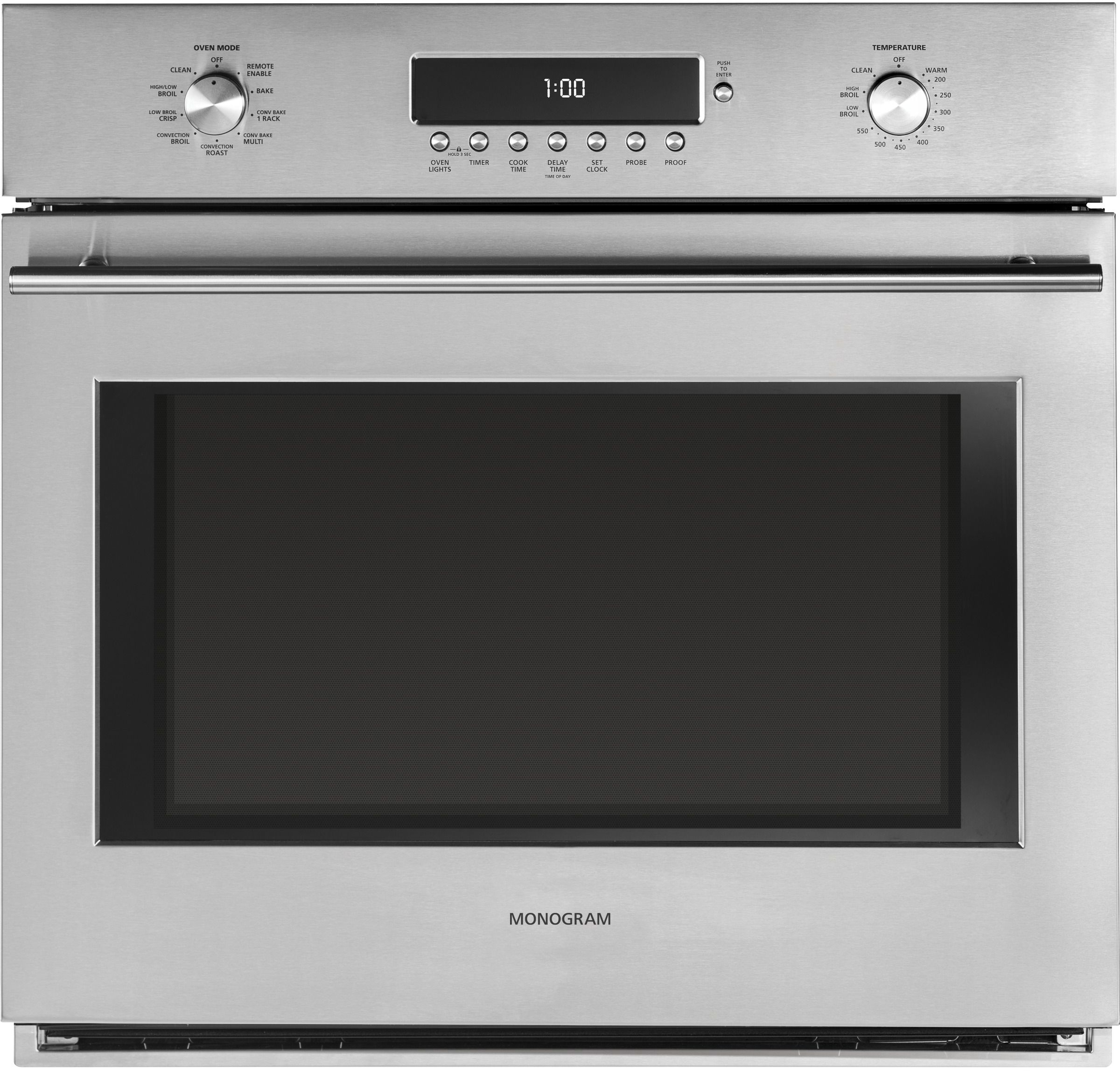 Monogram 30 Electronic Convection Single Wall Oven Stainless Steel Zet1shss