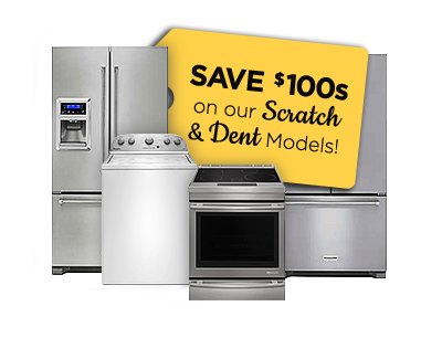 Save 100s on Scratch & Dent