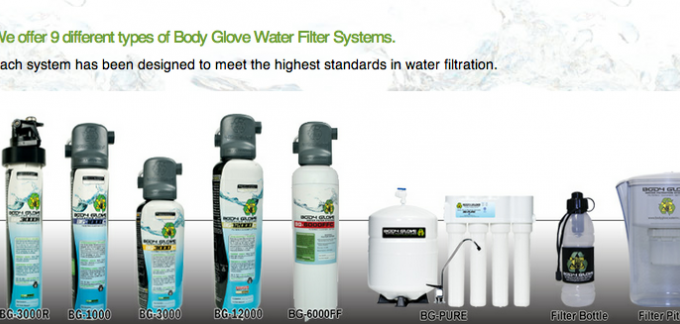 Body Glove Quality Water Filter Systems