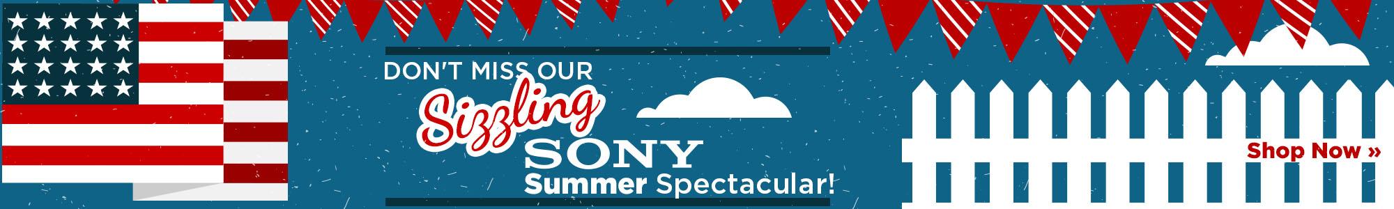Sony Summer Sale Web Banner