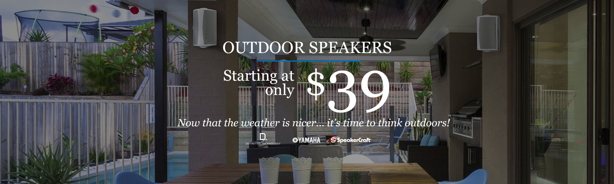 Outdoor speaker promo