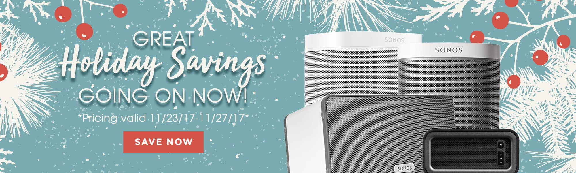 Great Holiday Savings going on Now!
