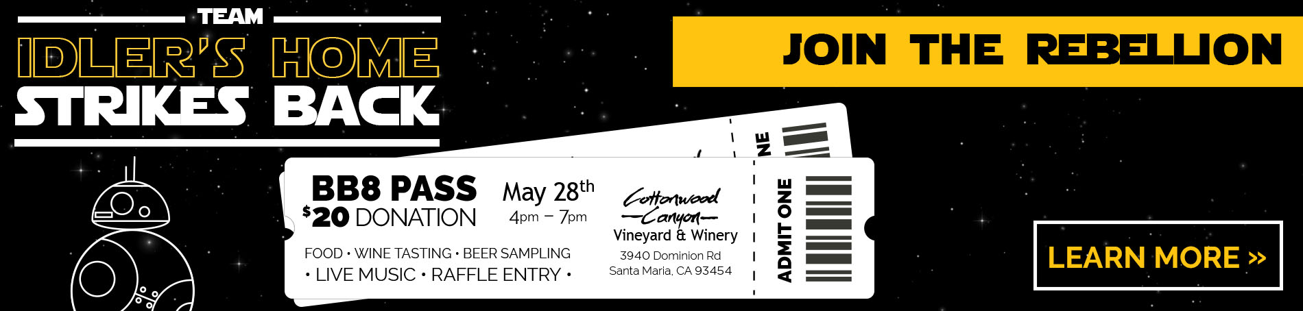 Star Wars wine event for relay for life