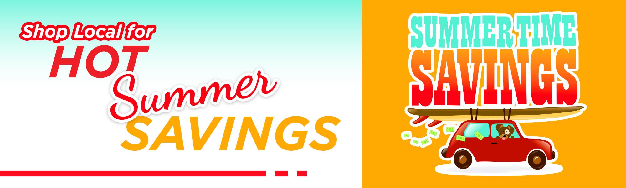 Summer Savings banner
