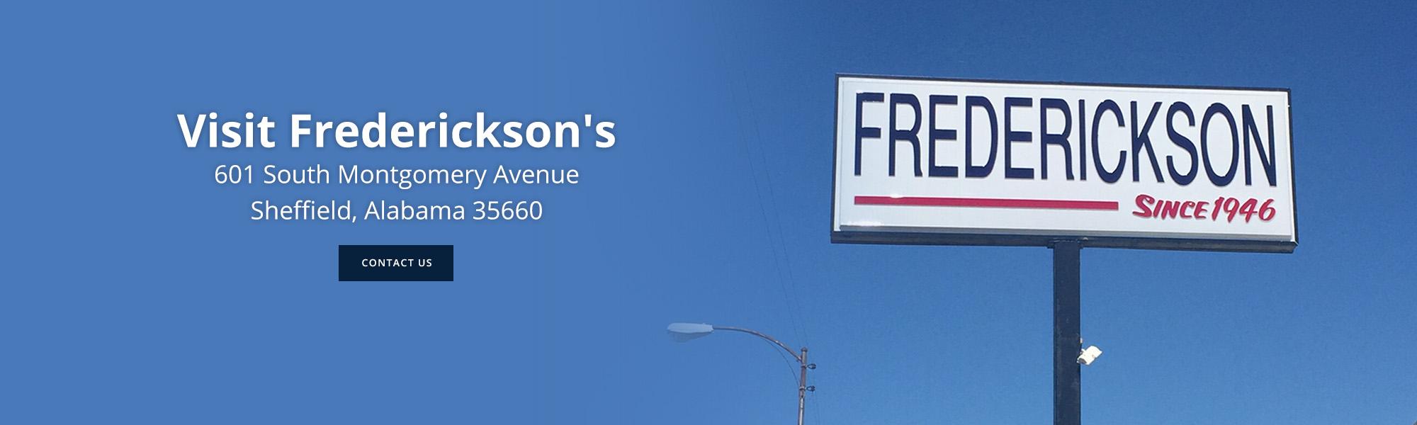 Frederickson\'s - Appliance ,Auto Service, Tire, Tv\'s, 4k, Sheffield ...