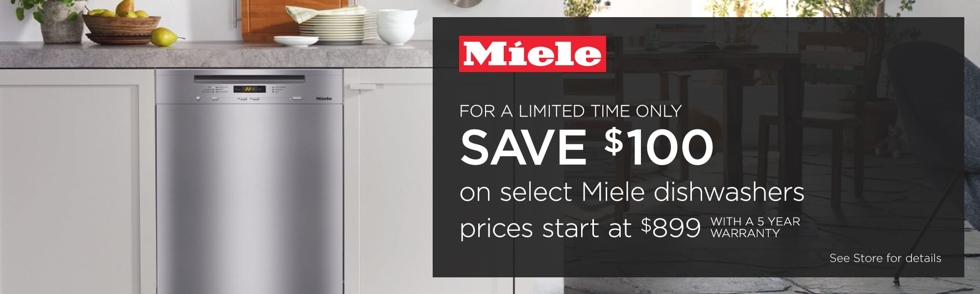 Miele 100 off banner