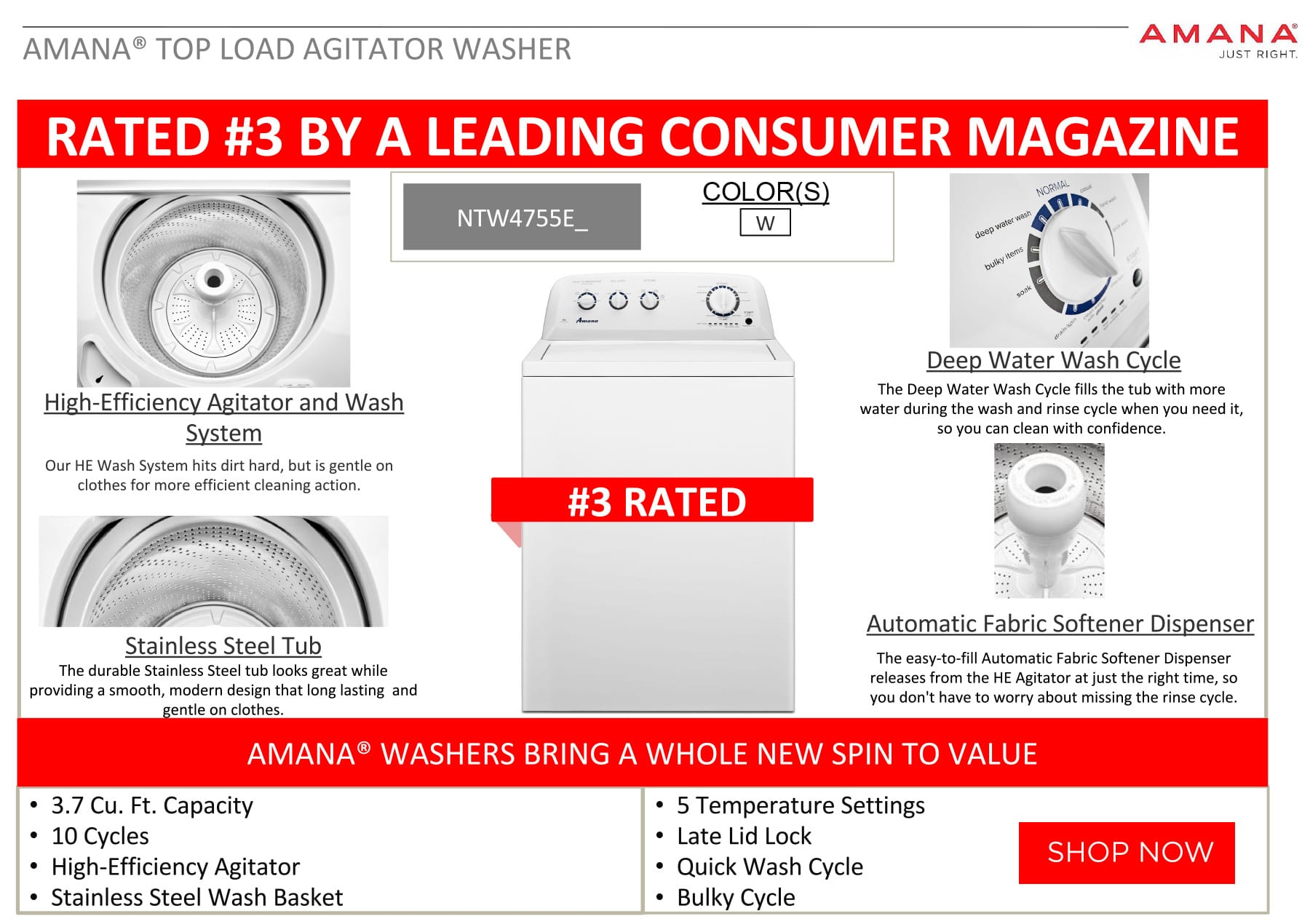 Amana Washer Rated #3
