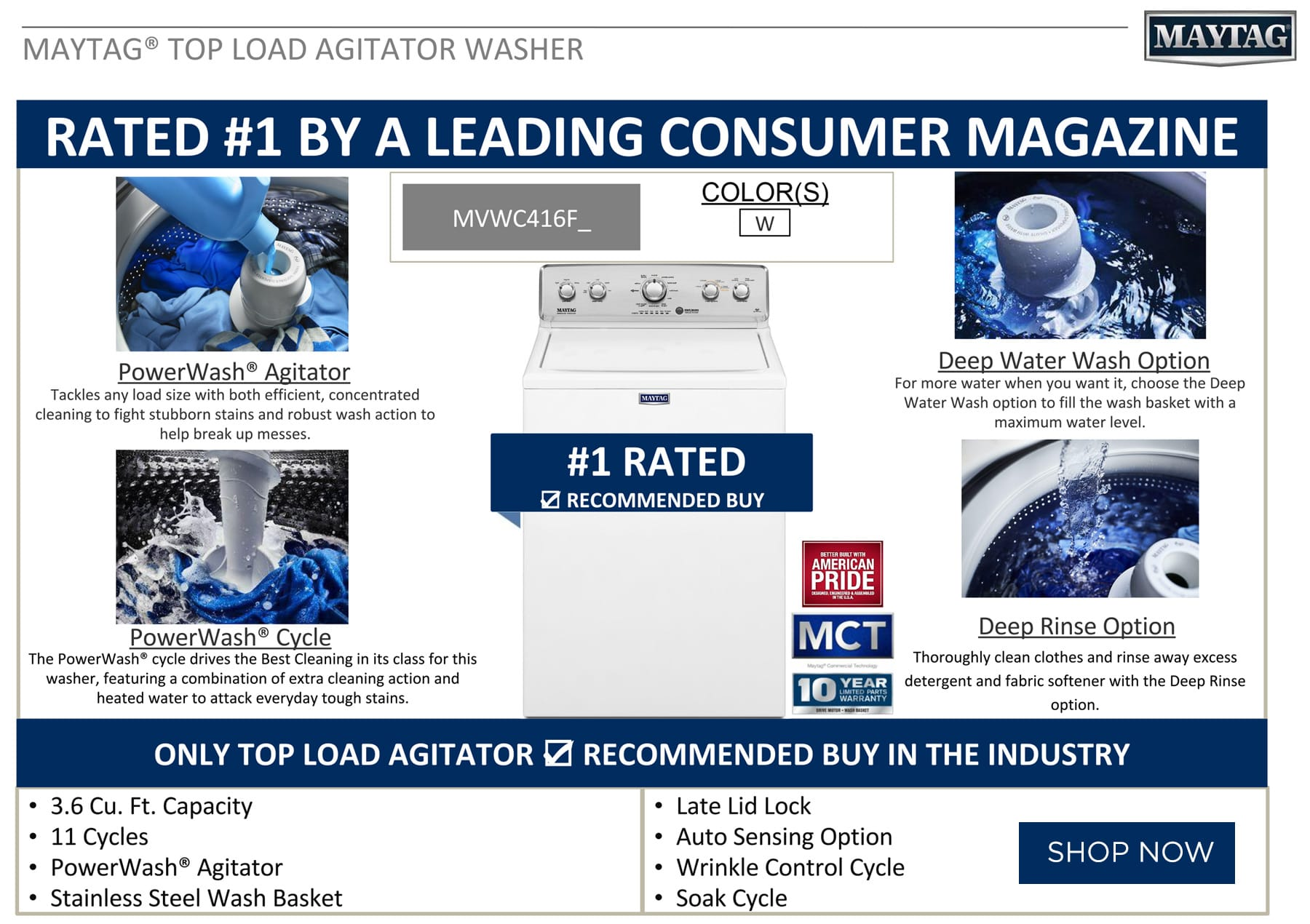 Maytag Washer Rated #1