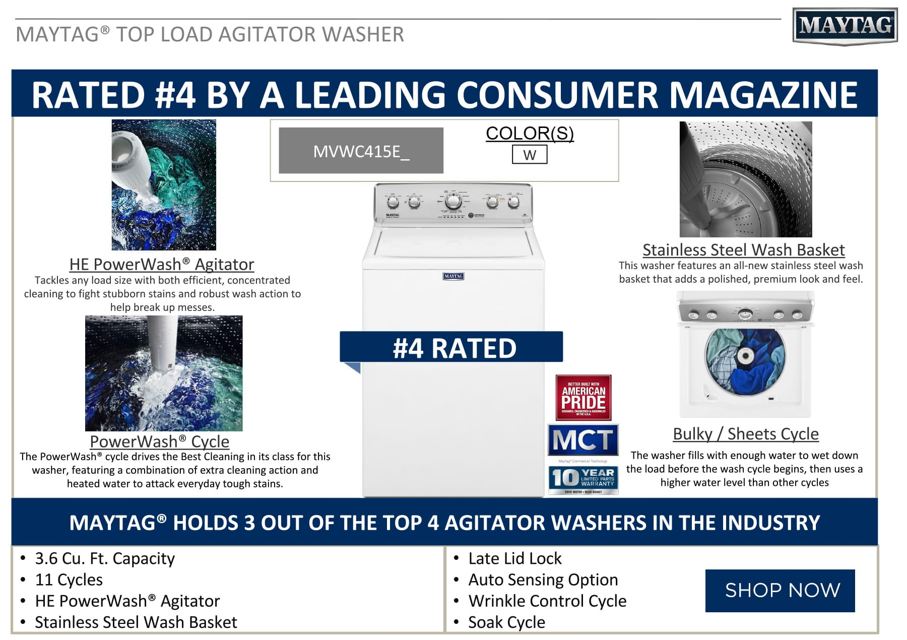 Maytag Washer Rated #4