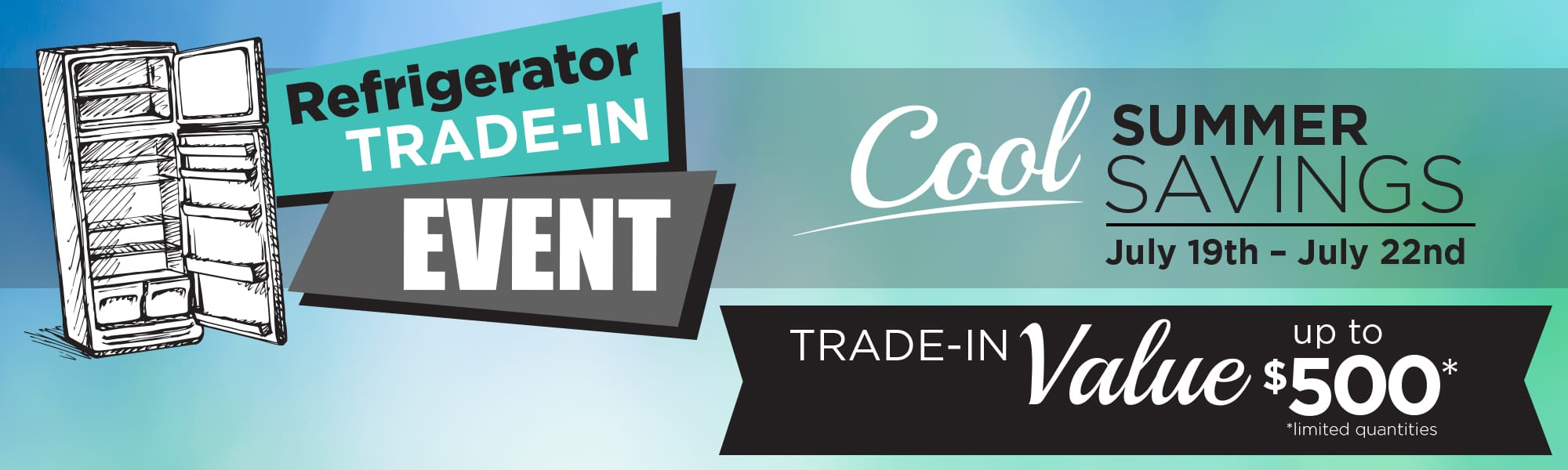refrigerator trade-in event Banner