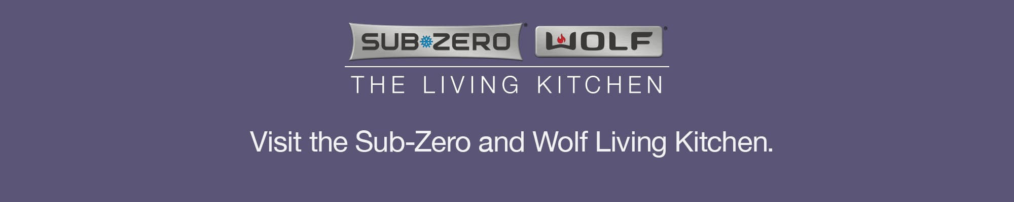 Sub Zero Wolf Visit the Living Kitchen and Logo