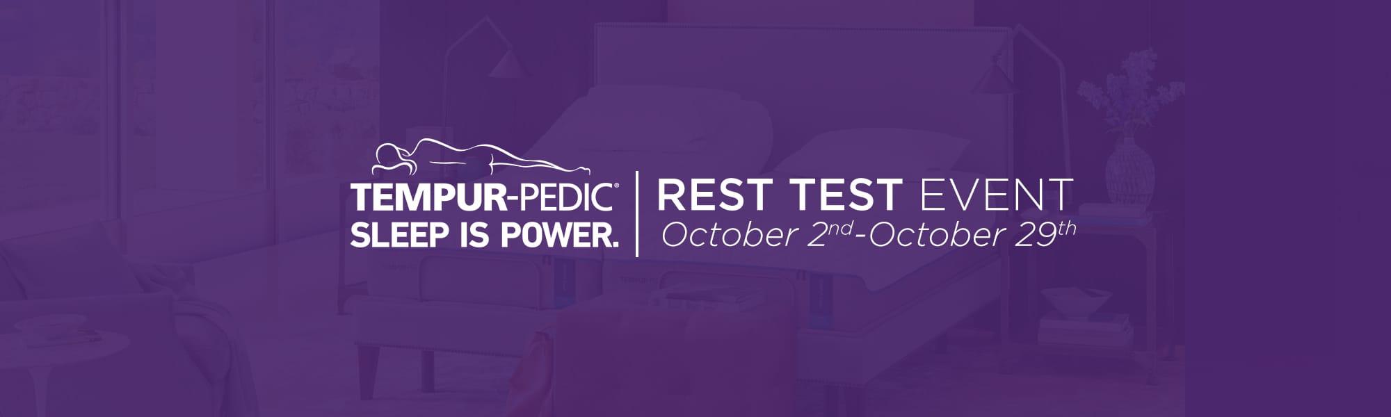 rest test tempur pedic
