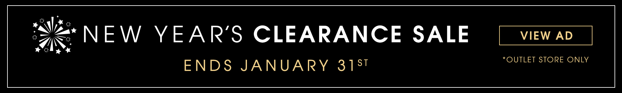 New Years Clearance Sale