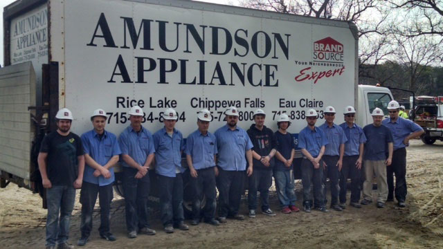 You can count on Amundson's Delivery & Installation Crew for Commercial Contracts