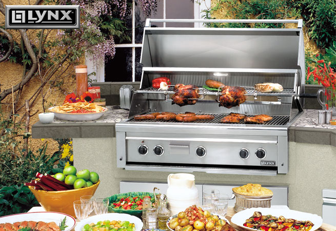 outdoor kitchen appliances packages build in lynxs complete line of outdoor kitchen products combines advanced technologies and refined features that you can use to design your own cooking bobby dollars appliance consultants outdoor kitchen islands