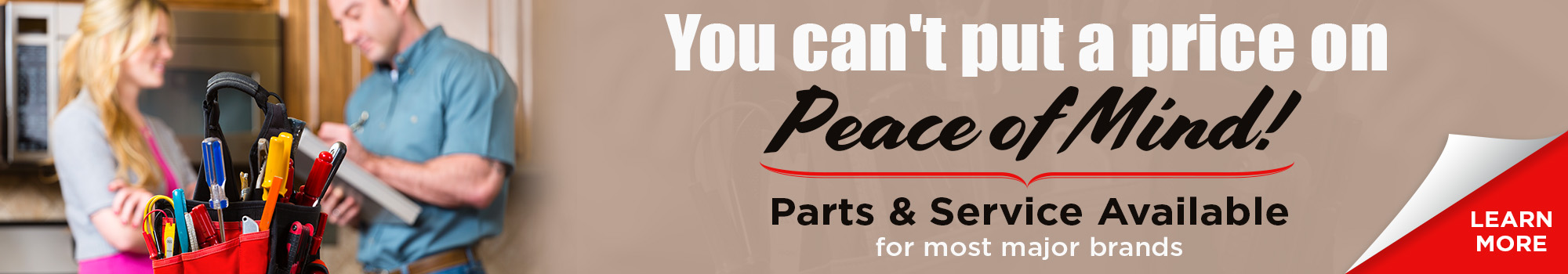Parts and Service banner