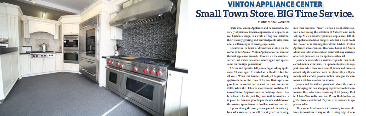 About Vinton Appliance Center
