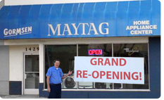 Visit Gormsen Maytag Home Appliance Center
