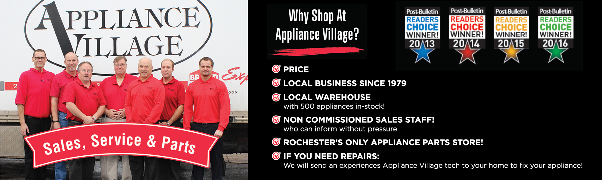 why shop at appliance village