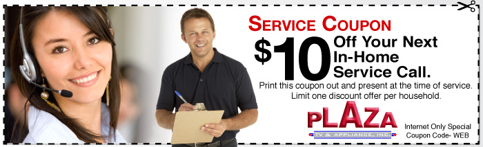 Plaza TV & Appliance In-House Coupon