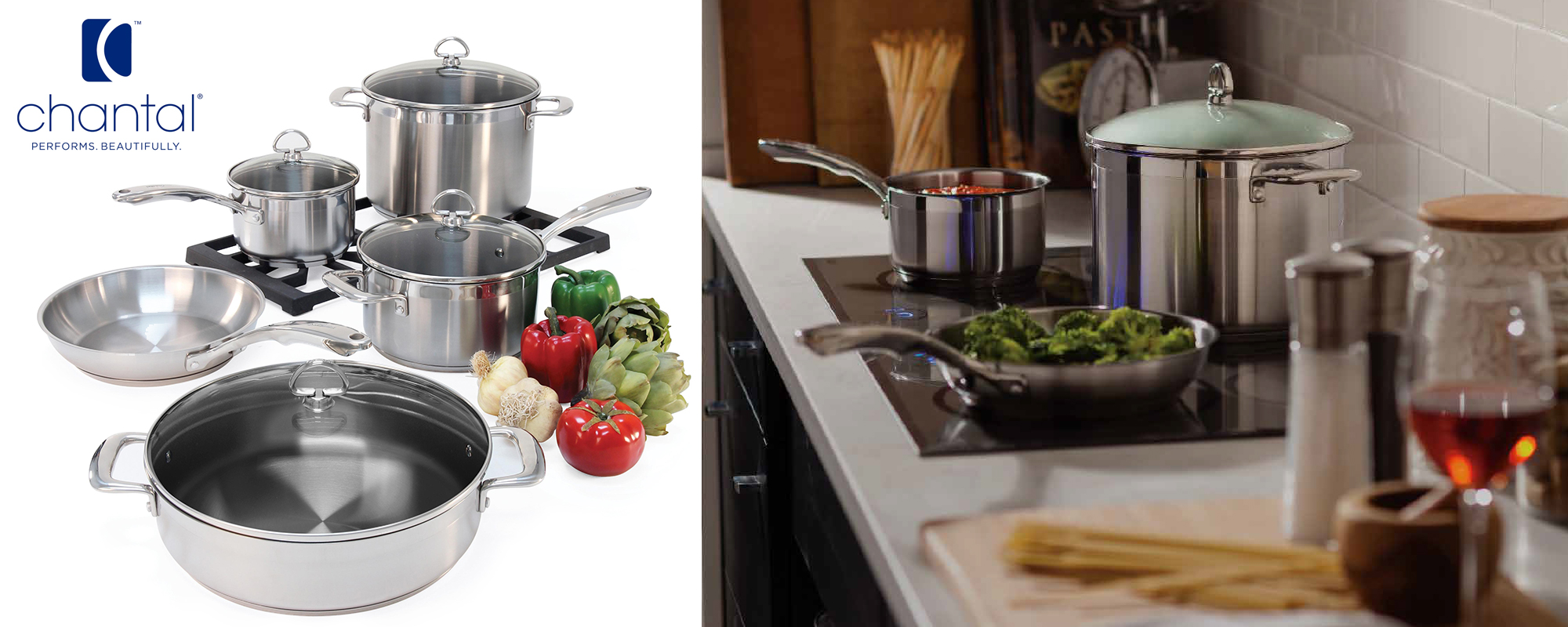 chantal cookware with purchase of ge induction Sale
