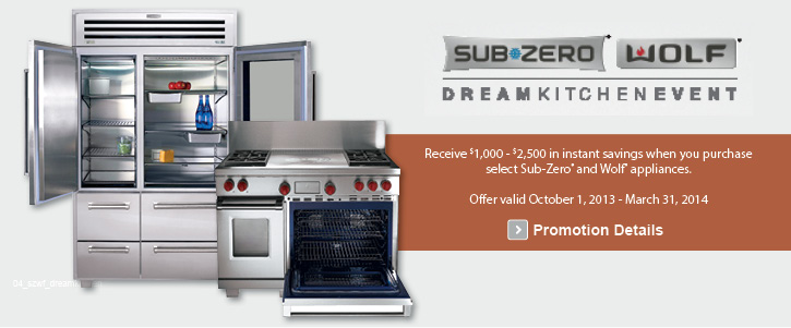 SubZero Wolf appliances