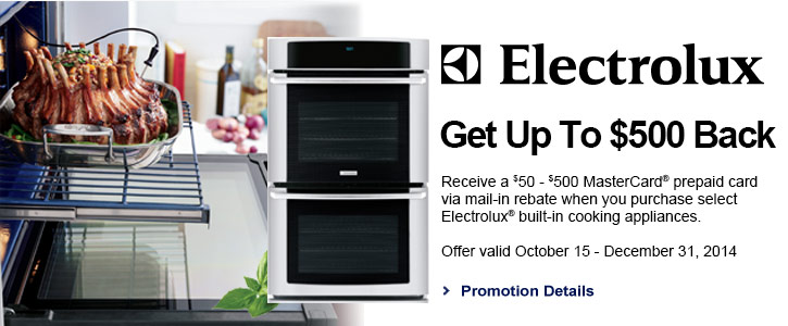 Electrolux appliances