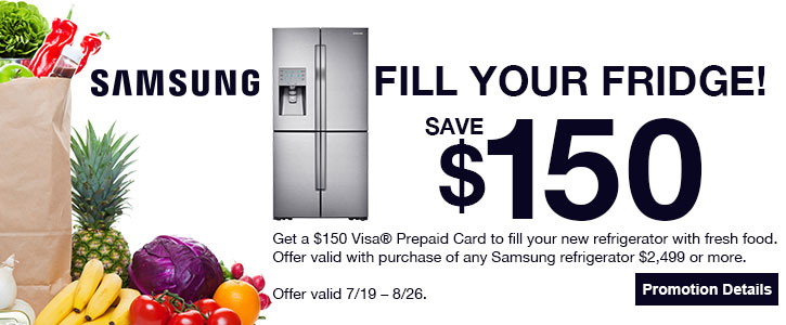 Samsung Fill your fridge