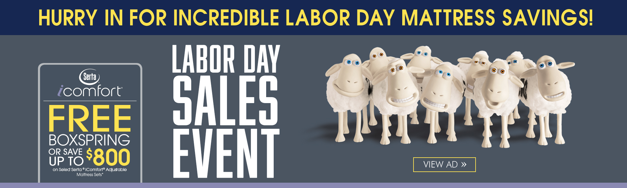 Serta iComfort Box Spring Labor Day Special