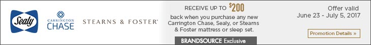 Sealy, Carrington Chase, Sterns & Foster mattress
