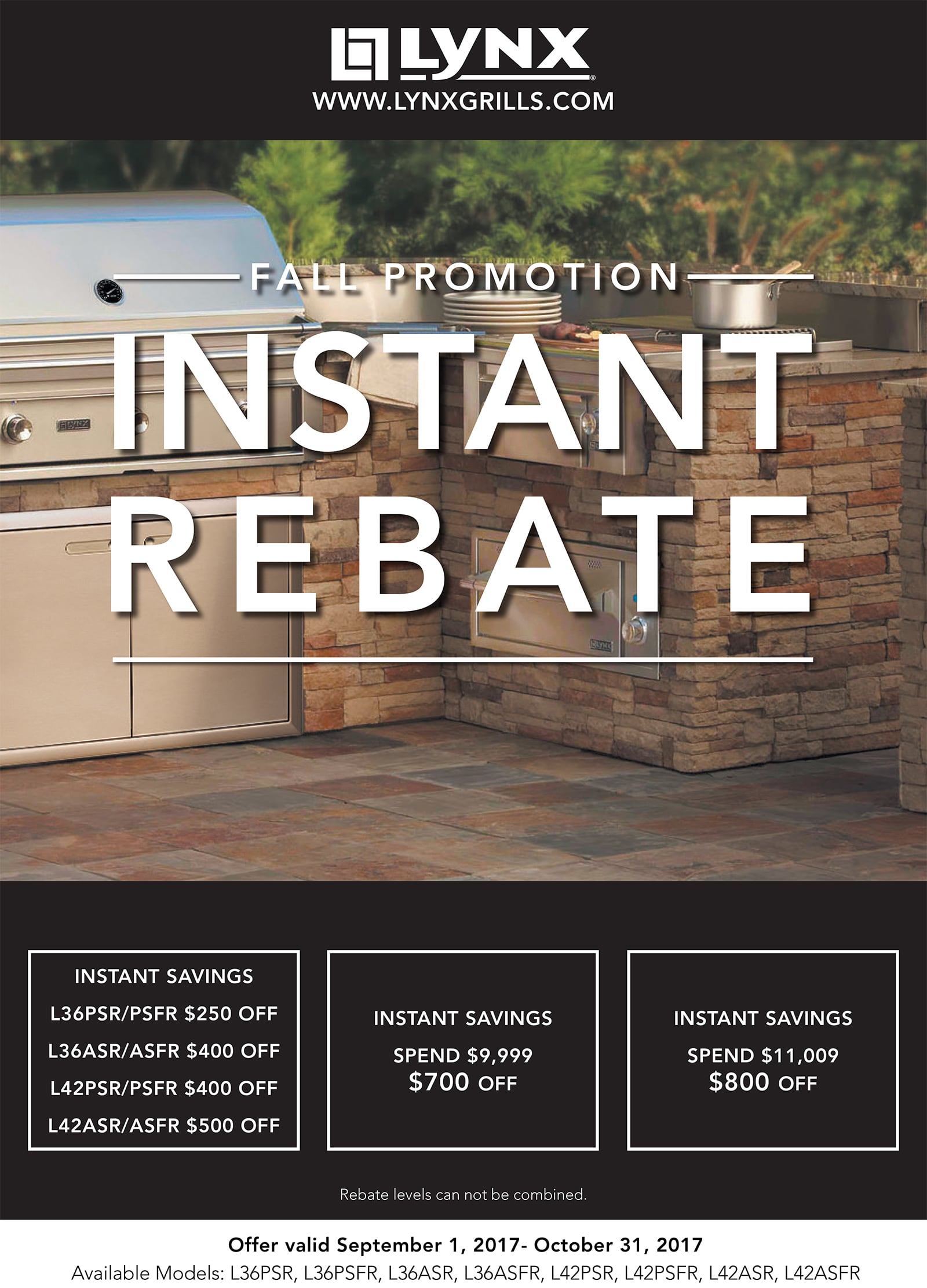Sedona by Lynx Fall Promotion - Instant Rebate
