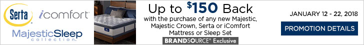 Majestic, Majestic Crown, Serta or iComfort Mattresses
