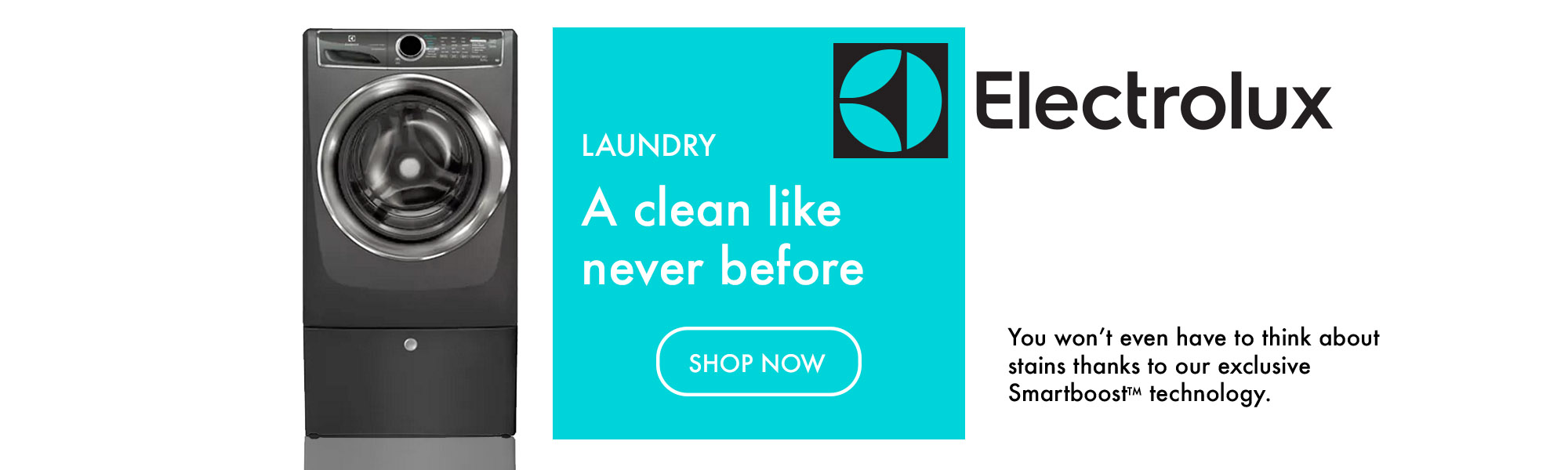 Electrolux Laundry banner